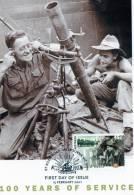 Australia 2001 Army - 100 Years Of Service 45c Gunners Maximum Card - Maximumkaarten