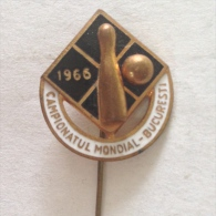 Badge / Pin (Bowling) - Romania București (Bucharest) World Championship 1966 - Bowling