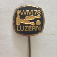 Badge / Pin (Bowling) - Switzerland Luzern World Championship 1978 - Bowling