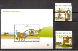 Portugal Madeira 2007, Nr. 279-280 Und Block 38, Zuckermühlen Auf Madeira, Postfrisch (mnh) ** - Madeira