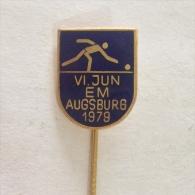 Badge / Pin (Bowling) - Germany (Deutschland) Augsburg European Championship 1979 - Bowling