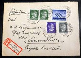 Mi.Nr. 884 Mit Weiteren Werten Auf R-Brief Von Berlin-Charlottenburg - Briefe U. Dokumente