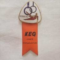 Badge / Pin (Gymnastics) - Yugoslavia Beograd (Belgrade) European Championship 1963 KEG COMITE D'ORGANIZATION - Gymnastics