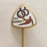 Badge / Pin (Gymnastics) - Yugoslavia Beograd (Belgrade) European Championship 1963 - Gymnastics