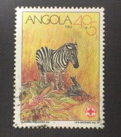 Angola / 1991 / Mi 864 / Used  / Zebra, Red Cross - Angola