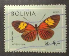 Bolivia / 1970 / Mi 808 / Used  / Butterfly - Bolivië