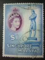 SINGAPORE 1955: Sc 40 / YT 40 / Tan Standard 53, O - FREE SHIPPING ABOVE 10 EURO - Singapour (1959-...)