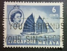 SINGAPORE 1955: Sc 32 / YT 32 / Tan Standard 45, O - FREE SHIPPING ABOVE 10 EURO - Singapour (1959-...)