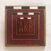 Badge / Pin (Athletics) - Yugoslavia Zagreb European Cup 1965 - Athletics