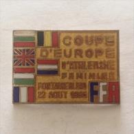 Badge / Pin (Athletics) - France Paris Fontainebleau European Cup Women 1965 FFA - Athletics