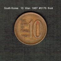 SOUTH KOREA    10  WON  1967  (KM # 6) - Korea, South