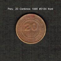 PERU    20  CENTIMOS  1986  (KM # 294) - Peru