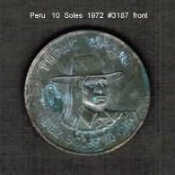 PERU    10  SOLES  1972  (KM # 258) - Peru