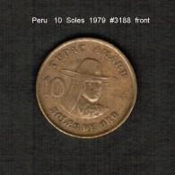 PERU    10  SOLES  1979  (KM # 272.2) - Peru