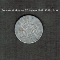 BOHEMIA & MORAVIA    20  HALERU  1941  (KM # 2) - Coins
