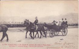 La Regina Elena E Il Re Edoardo VII Assistono Alla Rivista In P.zza D´Armi. Viaggiata 1903 - Case Reali
