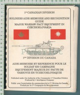 Canada (1ere Div.infantry Weapons, Camion 4X4, Tracked APCs,old Generation Tanks, Mil Transport Aircrafts Etc.) 8 Scans - Documents