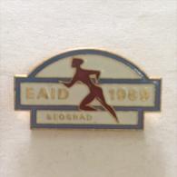Badge / Pin (Athletics) - Yugoslavia Beograd (Belgrade) European Indoor Championship 1969 - Athletics