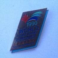 Badge / Pin (Figure Skating) - Canada Halifax World Championship 1990 - Skating (Figure)