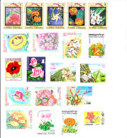 Flowers - 25 Pieces - Stamps