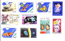 Space, Astronomy, Satellite - 10 Pieces - Stamps