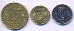Ukraine Coins Set 2008 XF - UNC (3 Coins)  2, 10, 50 Kopeeks - Ukraine
