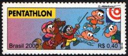 BRAZIL 2000 - OLYMPIC SPORTS - MODERN PENTATHLON - MINT - FENCING / SHOOTING / EQUESTRIAN / SWIMMING / ATHLETICS - Briefmarken