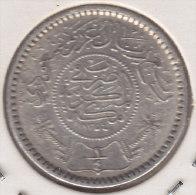 @Y@    Saoedi Arabie   1/4  Riyal 1935  / 1354   Zilver / Argent  (2455) - Saudi-Arabien