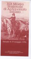 SALUZZO XIX MOSTRA NAZIONALE ANTIQUARIATO 1996 DEPLIANT - Reclame