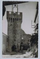 26b32CpsmMONTBRUN Les BAINSLa Tour De L'Horloge  1951 , Carte Photo - Non Classés