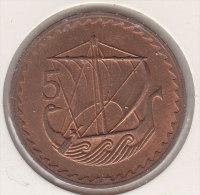 @Y@    Cyprus  5 Mils  1980     (2464) - Cyprus