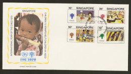 Singapour FDC Année Internationale De L´Enfant 1979 Singapore FDC Int. Year Of The Child IYC - Singapour (1959-...)