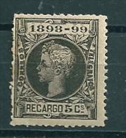 Spain 1898 Edifil 240 MM* - Unused Stamps