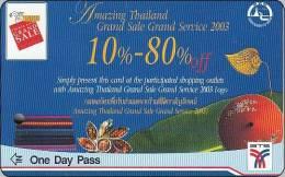 Thailand BTS Card  Ticket   Train  Amazing Thailand Grand Sale One Day Pass - Eisenbahnen