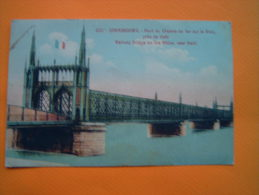 CPA STRASBOURG  - Pont Du Chemin De Fer Sur Le Rhin - 67 - Bas Rhin   - Colorisée - Strasbourg