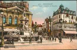Bruxelles - Porte De Namur Et Fontaine De Brouckère / Couleurs / H.Georges N° 4062 / Belle Animation - België