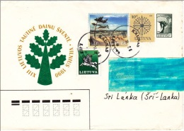 Z] Illustrated Postal Stationary Lettre Entier Postal Lituanie Lituania Tree Arbre Pin Pine Tree See Mer Dune Vegetal - Lithuania