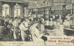 Antwerpen / Anvers - Chocolaterie Alfred Martougin - Salle De Pliage - Geanimeerd ( Verso Zien ) - Antwerpen