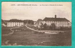 MM  - CPA  DOUBS (25)   LES FONTENELLES - LE COUVENT  ET ROUTE DE LA GARE - - Frankreich