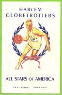 BASKETBALL - PROGRAMME SOUVENIR De 1950 - HARLEM GLOBETROTTERS - ALL STARS OF AMERICA - Baloncesto - NBA