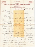 U.S. COVER  1896  POLITICAL LETTER W/ NEWSPAPER  CLIPPING - Covers & Documents