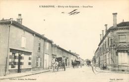 51 GIVRY EN ARGONNE GRAND RUE  AVEC ATTELAGE - Givry En Argonne