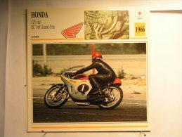 Lot De 4 Fiches Moto - Honda - Japon - Unclassified