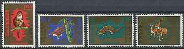 FORMOSE 1971 - Animaux Singes - Neuf AVEC Trace Charniere (Yvert 763/66) - 1945-... République De Chine