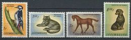 LUXEMBOURG 1961 - Chien Chat Oiseau Cheval - Neuf AVEC Legere Trace Charniere (Yvert 595/98) - Luxemburg