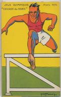JO De Paris 1924 Illustrée Pub Pontauberge Course De Haies Olympic Games - Athlétisme