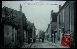 Cpa MONTMAGNY 95 Rue Du Château - Andere Gemeenten