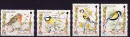 GIBRALTAR -  OISEAUX- BIRDS- NOEL - CHRISTMAS    -  4 V  NEUF**- CL0196-CL2 - Songbirds & Tree Dwellers