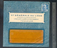 Enveloppe 1947 Cie Du Liège Toulouse - 1921-1960: Période Moderne