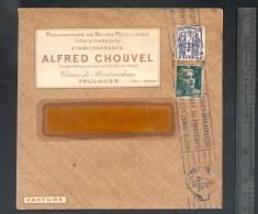Enveloppe 1946 Manufacture Boites En Métal Fûts Tonnelets Toulouse (timbre Chaines Brisées) Oblit. SALON PHILATELIE - 1921-1960: Période Moderne
